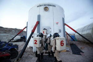 MDRS Members entering hab